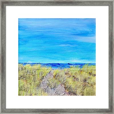 Sandy Dunes Framed Print by Regina Valluzzi