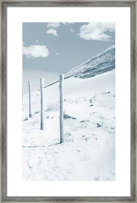 Framed Print featuring the photograph Sandy Dunes. Series Ethereal Blue by Jenny Rainbow