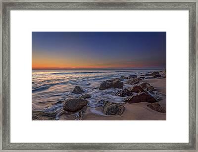 Sandy Hook At Sunrise Framed Print by Rick Berk