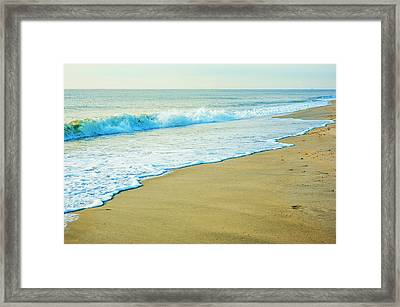 Sandy Hook Beach, New Jersey, Usa Framed Print