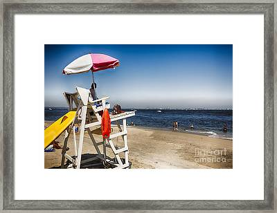 Sandy Hook Lifeguard Station Framed Print
