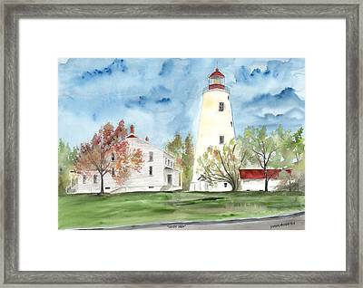 Sandy Hook Lighthouse Framed Print by Derek Mccrea