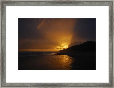 Sandy Leaving Montauk Framed Print by Kelly Nickels