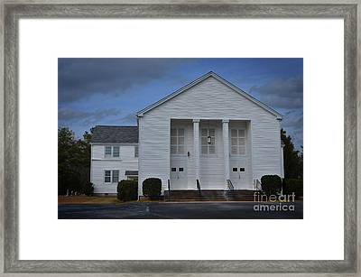 Sandy Level Baptist Church Framed Print by Skip Willits