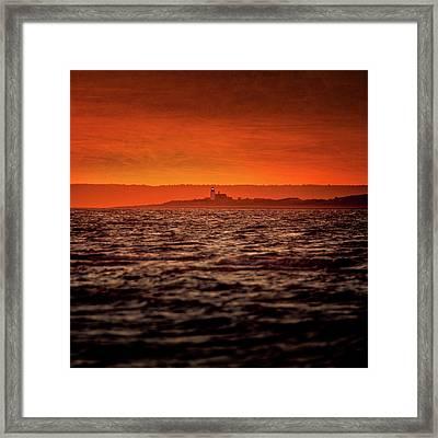 Sandy Neck Light Framed Print