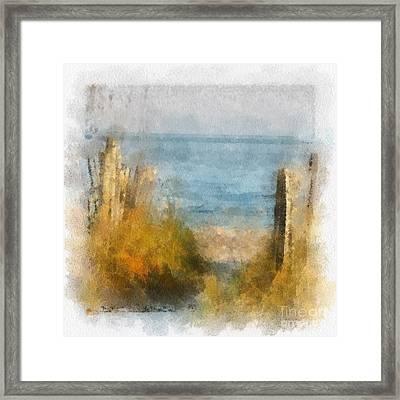 Sandy Path To The Beach Framed Print