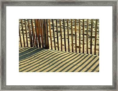 Sandy Pinstripes Framed Print by JAMART Photography