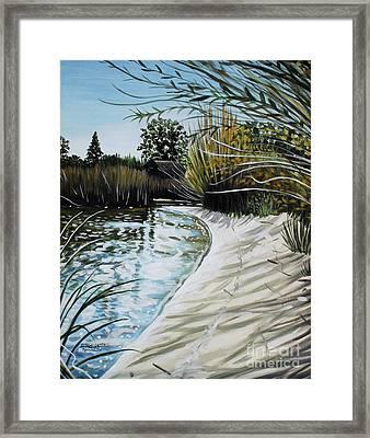 Sandy Reeds Framed Print