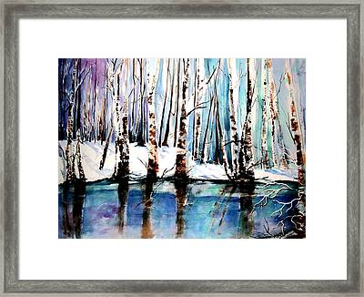 Framed Print featuring the painting Sandy River  by Marti Green