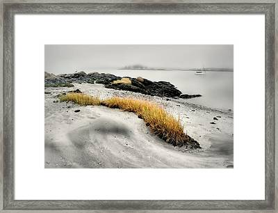 Between Surf And Sand Framed Print