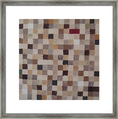 Sandy Squares Framed Print by Wendy Peat