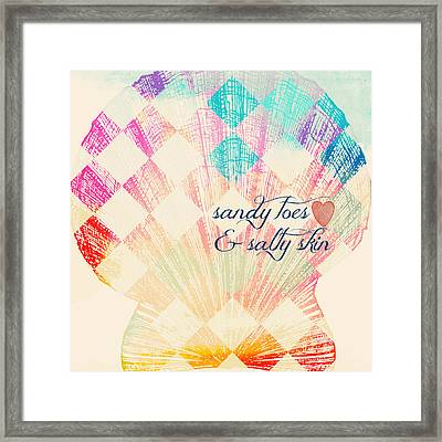 Sandy Toes And Salty Skin Framed Print