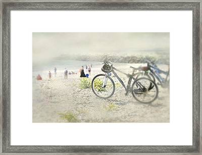 Sandy Wheels Framed Print by Diana Angstadt
