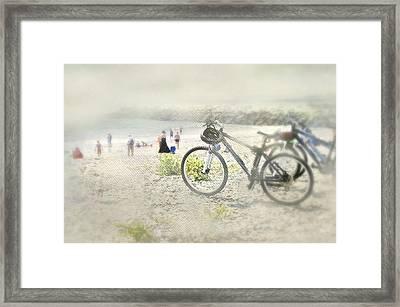 Sandy Wheels Framed Print by Diana Angstadt