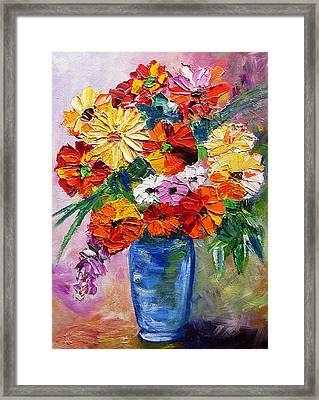 Sandy's Flowers Framed Print by Mary Jo Zorad