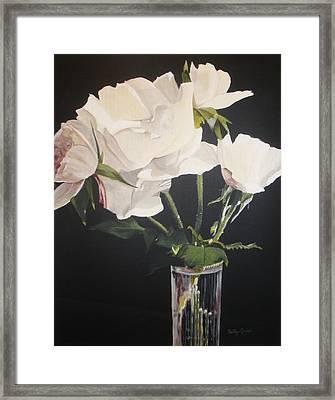 Sandys Roses Framed Print