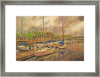 Framed Print featuring the photograph Sanford Sailboats by Lewis Mann