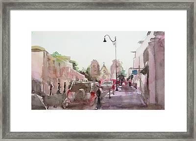 Sanfransisco Street Framed Print by Becky Kim
