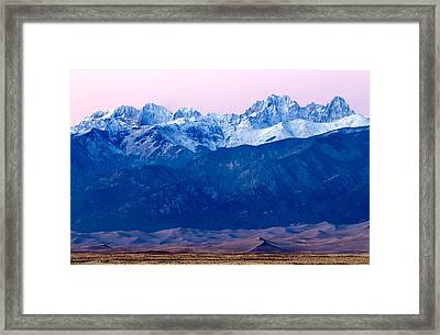 Sangre De Christo And The Great Sand Dunes National Park Framed Print
