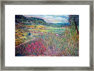 Sangre De Christo Mountain Mora Valley Framed Print by Richalyn Marquez