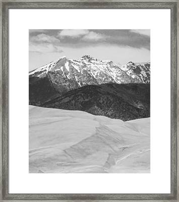 Sangre De Cristo Mountains And The Great Sand Dunes Bw V Framed Print by James BO  Insogna