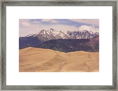 Sangre De Cristo Mountains And The Great Sand Dunes Framed Print