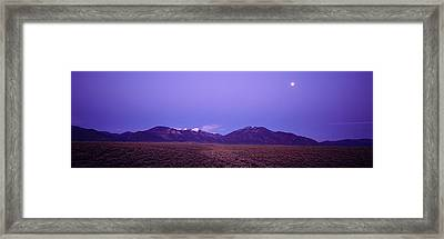 Sangre De Cristo Mountains At Sunset Framed Print by Panoramic Images