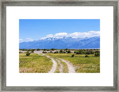 Sangre De Cristos From The Old Medano Ranch Framed Print by Scotts Scapes