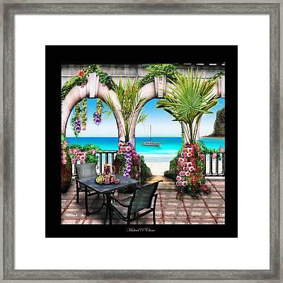 Sangria Beach Framed Print