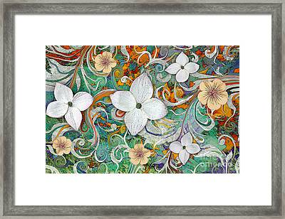 Sangria Flora Framed Print by Christopher Beikmann