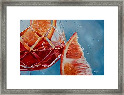 Sangria Whatever The Weather Framed Print by Kay Ashton