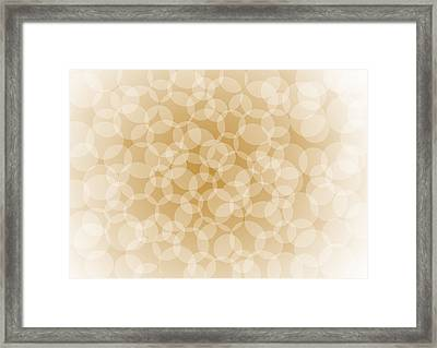 Sanguine Abstract Circles Framed Print by Frank Tschakert