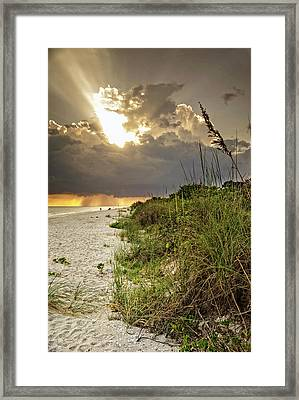 Sanibel Dune At Sunset Framed Print