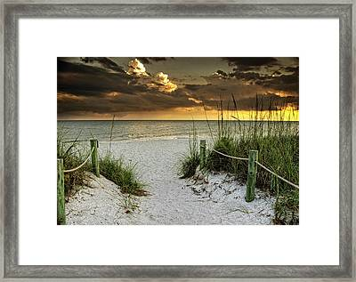 Sanibel Island Beach Access Framed Print by Greg Mimbs