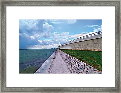 Framed Print featuring the photograph Sanibel Island Bridge by Timothy Lowry