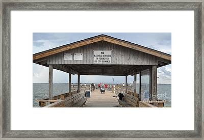 Sanibel Island Fishing Pier Framed Print