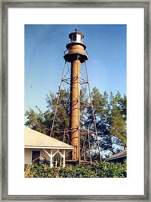 Framed Print featuring the photograph Sanibel Island Light by Frederic Kohli