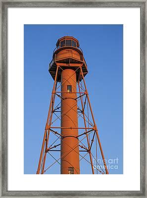 Sanibel Island Lighthouse Framed Print by Edward Fielding