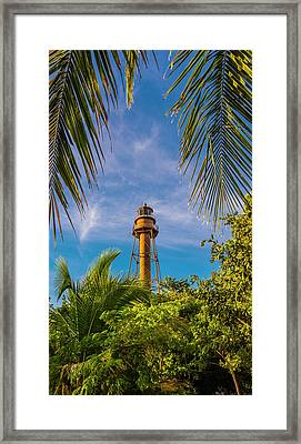 Framed Print featuring the photograph Sanibel Lighthouse by Steven Ainsworth