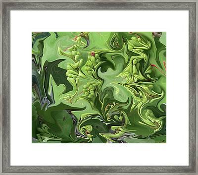 Sanibel Seagrapes Framed Print by Melinda Saminski