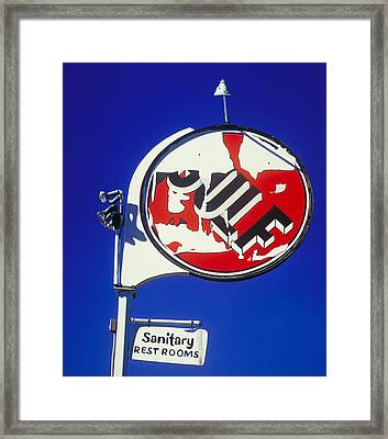 Sanitary Restrooms Framed Print by Randy Ford