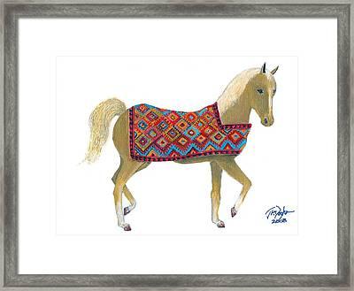 Sanjabi Pony Framed Print