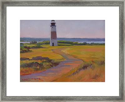 Sankaty Head Lighthouse Framed Print