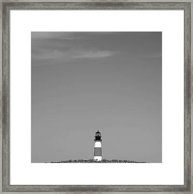 Sankaty Head Lighthouse Nantucket Framed Print by Charles Harden