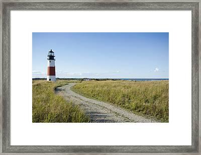 Sankaty Head Lighthouse, Nantucket Framed Print by Jack Flash