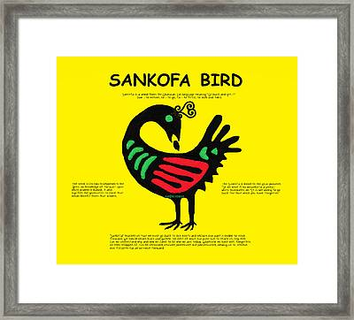 Sankofa Bird Of Knowledge Framed Print