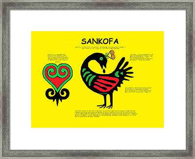 Sankofa Knowledge Framed Print