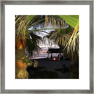 Sano Shack Sunset Framed Print