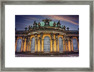 Sanssouci Palace In Potsdam Germany  Framed Print