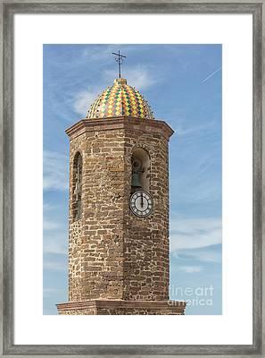Sant Antonio Cathedral In Castelsardo Framed Print by Patricia Hofmeester